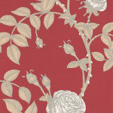 Timorous Beasties McGegan Rose Red Wallpaper