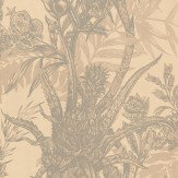 Timorous Beasties Pineapple Grey / Cream Wallpaper