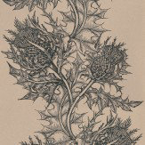 Timorous Beasties Thistle Black / Stone Wallpaper