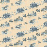 Timorous Beasties London Toile Blue / Cream Wallpaper