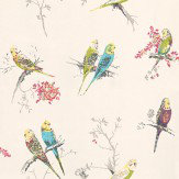 Blendworth Chirpy White Off White / Blue / Green Wallpaper