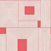 Harlequin Maze White / Red Wallpaper