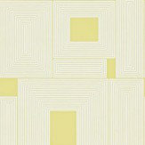 Harlequin Maze Off White / Lime Wallpaper