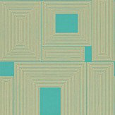 Harlequin Maze Gold / Turquoise Wallpaper - Product code: 110333