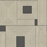 Harlequin Maze Light Gold / Charcoal Wallpaper