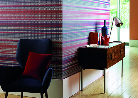 Harlequin Array Pink / Purple / Orange Wallpaper
