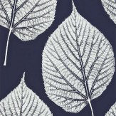 Harlequin Leaf White / Midnight Blue Wallpaper