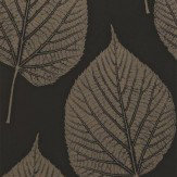 Harlequin Leaf Metallic / Black Wallpaper