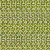 Harlequin Trellis Light Gold / Lime Wallpaper