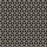 Harlequin Trellis Silver / Black Wallpaper