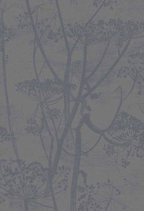 Cole & Son Cow Parsley Charcoal Wallpaper main image