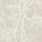 Cole & Son Cow Parsley Pale Grey Wallpaper