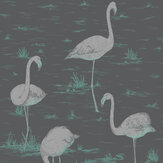 Cole & Son Flamingos Ink Wallpaper