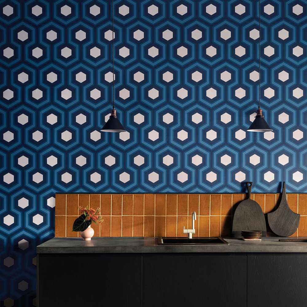 Cole & Son Hicks Grand Blue Wallpaper - Product code: 95/6035