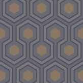 Cole & Son Hicks Hexagon Black & Grey Wallpaper