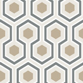 Cole & Son Hicks Hexagon Gold & Cream Wallpaper