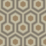 Cole & Son Hicks Hexagon Taupe & Bronze Wallpaper