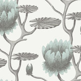 Cole & Son Summer Lily Blue Wallpaper