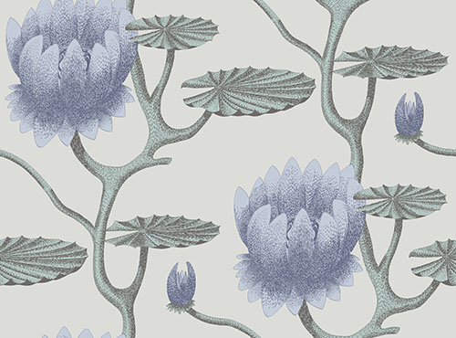 Cole & Son Summer Lily Aqua Wallpaper - Product code: 95/4024