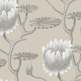 Cole & Son Summer Lily Neutral Wallpaper