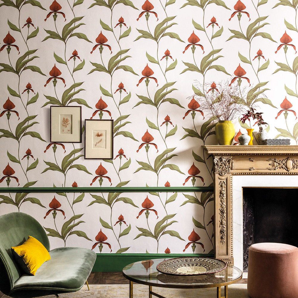 Cole & Son Orchid Red Wallpaper - Product code: 95/10054