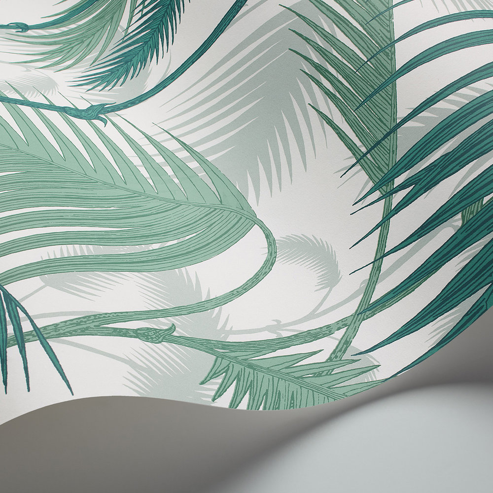 Palm Jungle Wallpaper - Emerald Green - by Cole & Son
