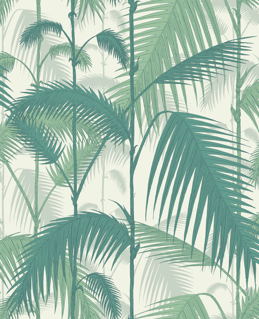 Cole & Son Palm Jungle Emerald Green Wallpaper main image