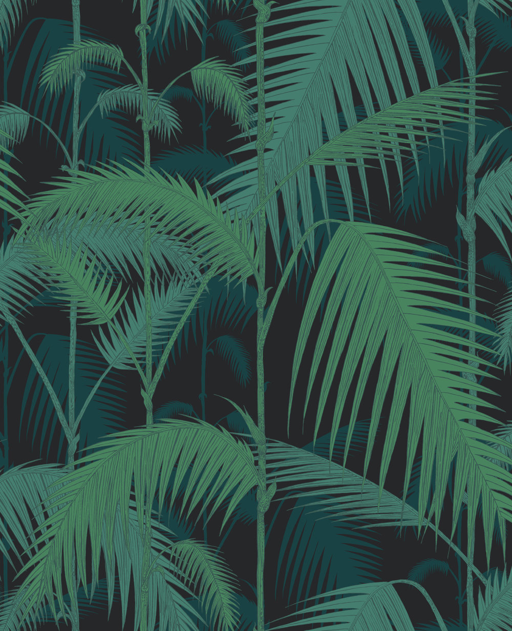 Cole & Son Palm Jungle Black Wallpaper main image