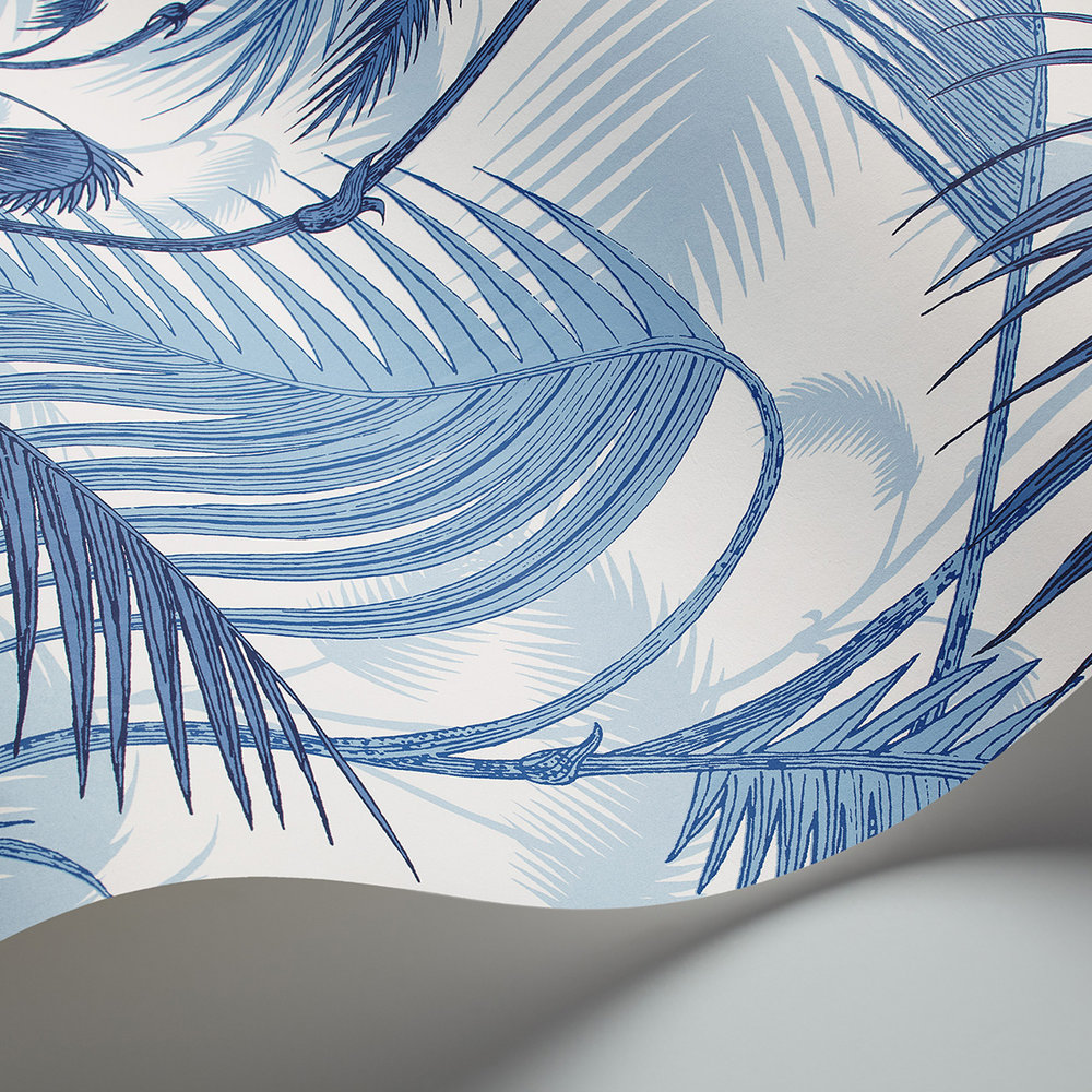 Cole & Son Palm Jungle China Blue Wallpaper - Product code: 95/1005