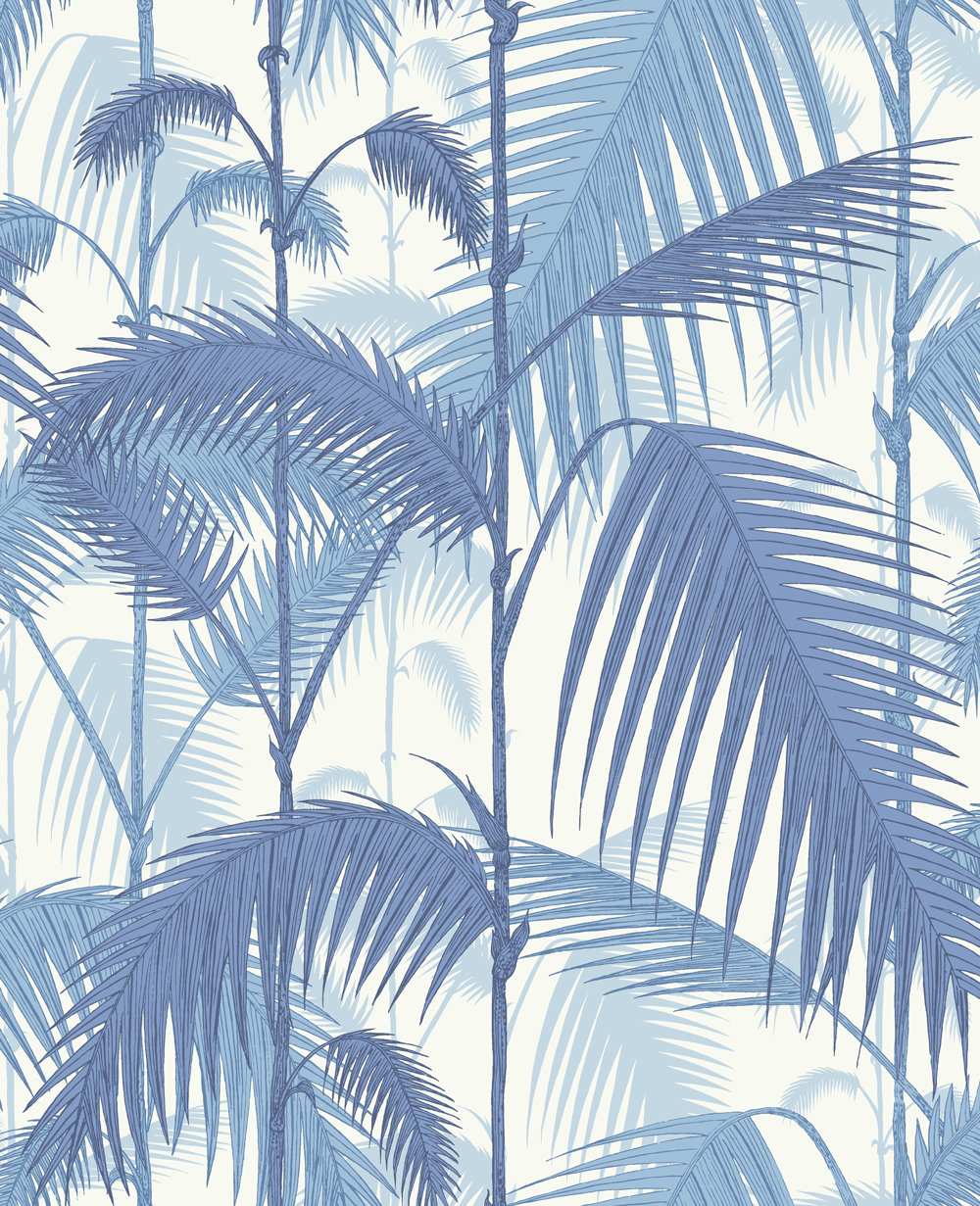 Cole & Son Palm Jungle China Blue Wallpaper main image