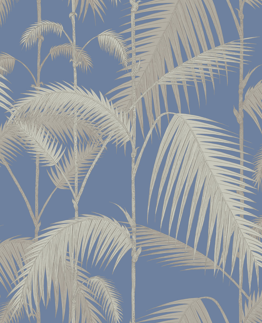 Cole & Son Palm Jungle Blue Wallpaper main image