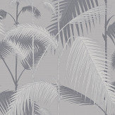 Cole & Son Palm Jungle Silver Wallpaper