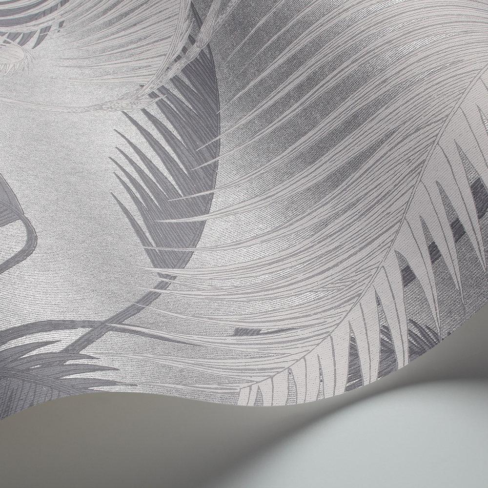 Palm Jungle Wallpaper - Silver - by Cole & Son