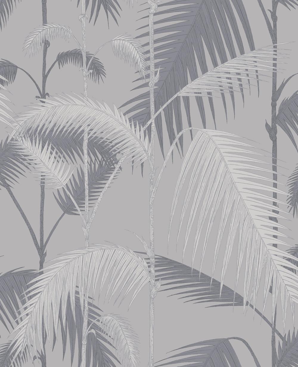 Cole & Son Palm Jungle Silver Wallpaper main image