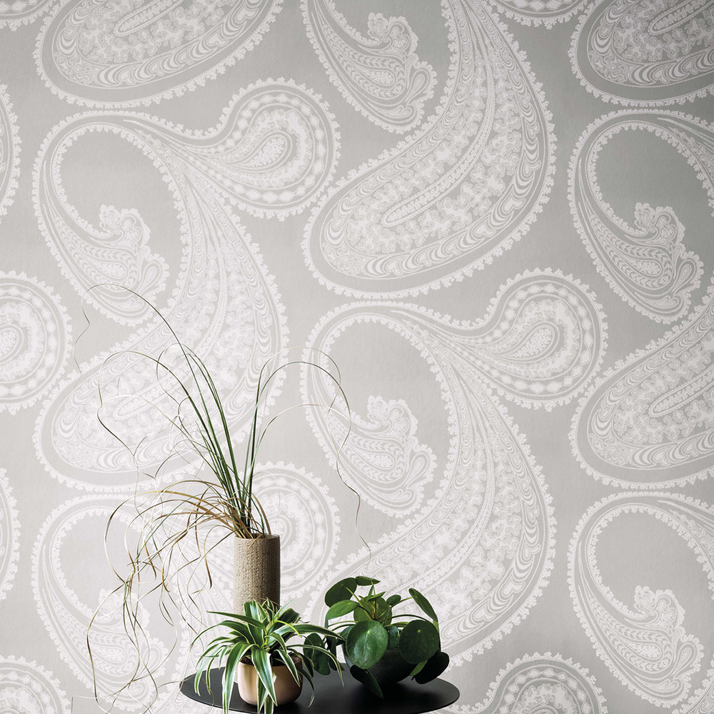 Rajapur Wallpaper - Dove Grey - by Cole & Son