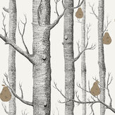 Cole & Son Woods and Pears Black & White Wallpaper