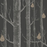 Cole & Son Woods and Pears Black Wallpaper