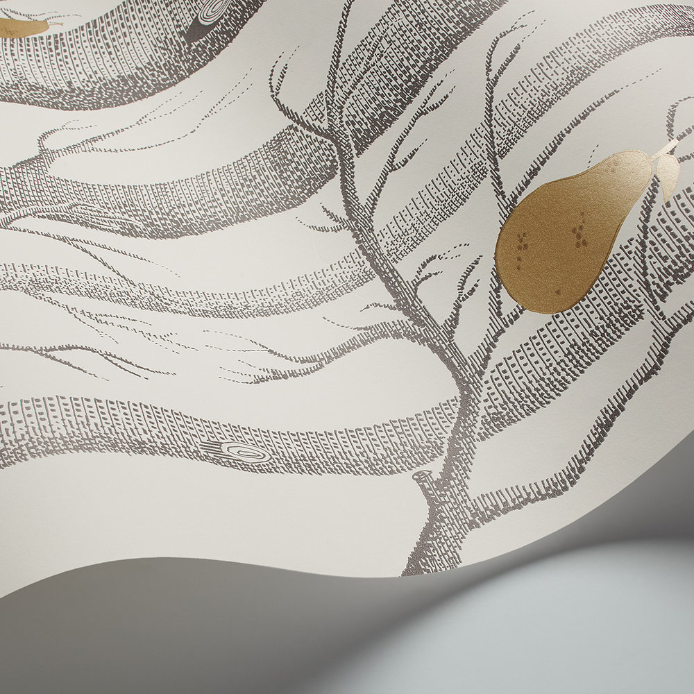 Woods and Pears Wallpaper - Grey & White - by Cole & Son