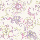 Albany Jane Green / Pink / Purple Wallpaper
