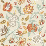 Thibaut Cayman Cream / Orange Wallpaper - Product code: 839-T-4907