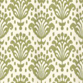 Thibaut Thai Ikat Green Wallpaper