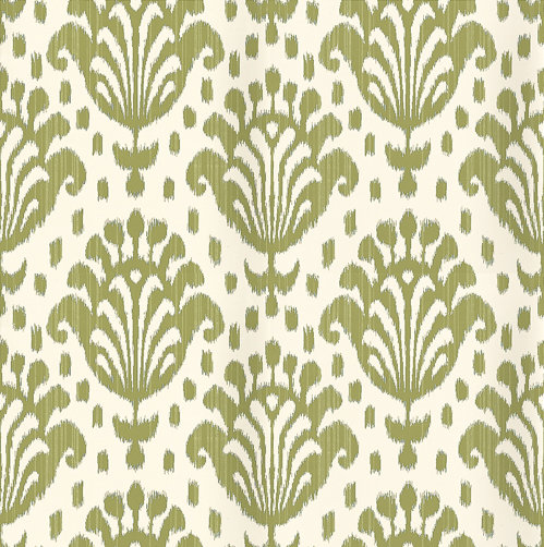 Thibaut Thai Ikat Green Wallpaper main image