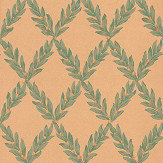Sheila Coombes Pushkin Green / Orange Wallpaper