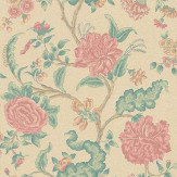 Sheila Coombes Rossetti Pink / Green Wallpaper
