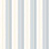 Ralph Lauren Aiden Stripe Blue / Yellow Wallpaper