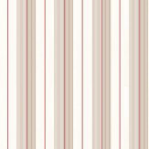 Ralph Lauren Aiden Stripe Beige / Red Wallpaper