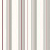 Ralph Lauren Aiden Stripe Granite / Red Wallpaper