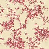 Ralph Lauren Ashfield Floral Red Wallpaper