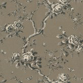 Ralph Lauren Ashfield Floral Gunmetal Wallpaper