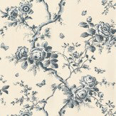 Ralph Lauren Ashfield Floral Blue Wallpaper